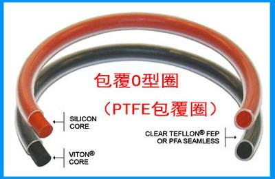FEP encapsulated silicone o-rings with PTFE coating