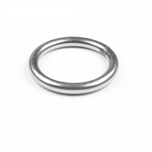 custom stainless steel hollow Metal O Ring with hole